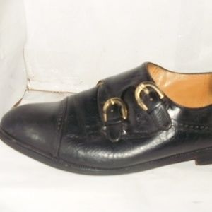 HERE YOU HAVE A MEN'S BLACK LEATHER DOUBLE MONK ST